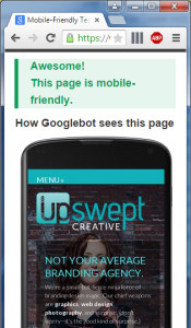 Upswept Creative is Mobile Friendly!