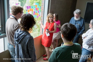 Amelia Abreu facilitates a session about creating better design with user research.