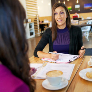 Consultation over coffee