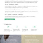Website Design for therapy professionals