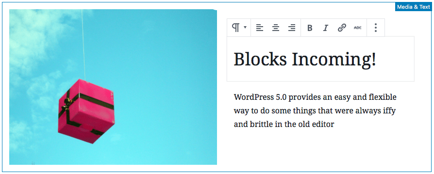 WordPress Gutenberg Update Preview